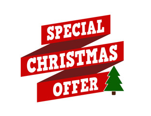 Special Christmas offer banner design