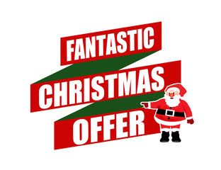 Fantastic Christmas offer banner design
