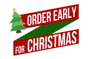 Order early for Christmas banner design