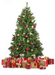 canvas print picture - Weihnachtsbaum mit vielen Geschenken