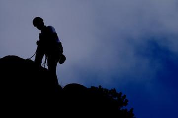 Kletterer am Berg