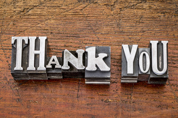 thank you in metal type