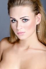 Close up beauty portrait