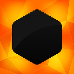 Hexagon banner with abstract backrounds