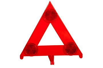 Bright Red Danger Warning Triangle with Reflectors