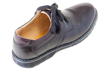 one men's black leather shoe