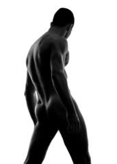 Beauty sexy body of a muscle sportsman