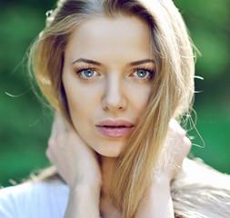 Beautiful girl face - close up