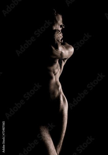 Beauty sexy body of a muscle sportsman - 73487065