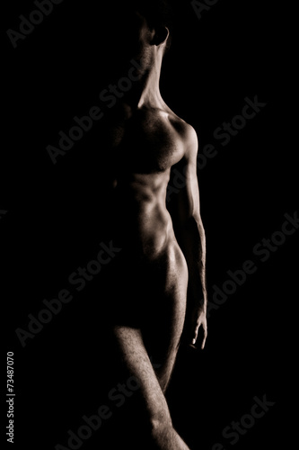 Beauty sexy body of a muscle sportsman - 73487070