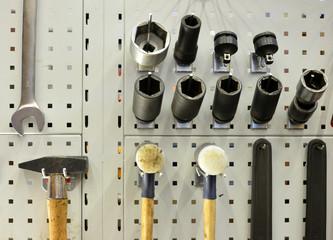 Werkzeuge ordentlich sortiert