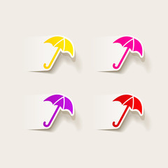 realistic design element: umbrella