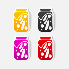 realistic design element: pickled vegetables