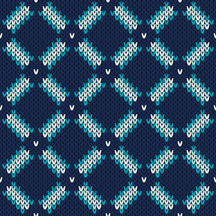 Seamless Knitted Pattern. Fashionable Sweater Design