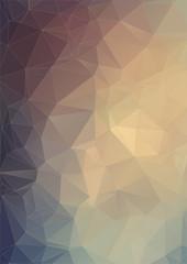Brown vintage polygonal background