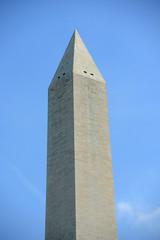 Washington Monument at the center of Washington DC