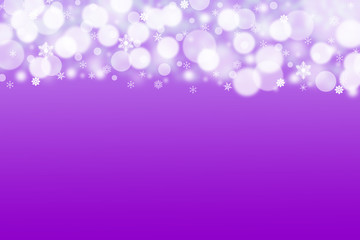 The purple background with white balls and snowflakes