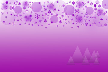 The purple Christmas background with snowflakes