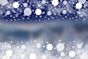 Winter background with blurred patterns