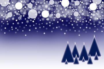 The dark blue Christmas background