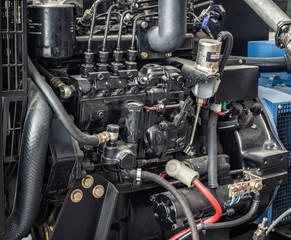 Close up diesel generator station