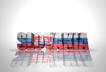 Word Slovakia on the white background