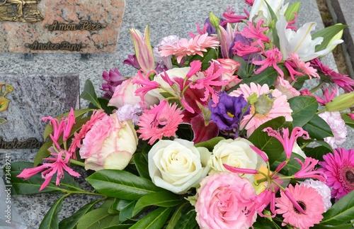 Tuinposter Begraafplaats Bouquet funéraire