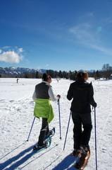 randonnée a raquette a neige