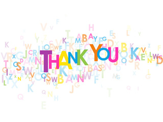 "THANK YOU"" Letter Collage (card thanks greetings gratitude joy)"