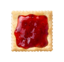 Strawberry Preserves on a Saltine Cracker