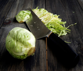Mini cabbage shredding knife