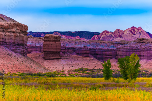 Fotobehang Natuur Park Autumn Trees in the Canyon Utah Fall Landscape