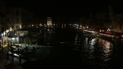 Grand Canal view at night, Venice - Italy