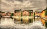 Swedish Parliament building in Stockholm
