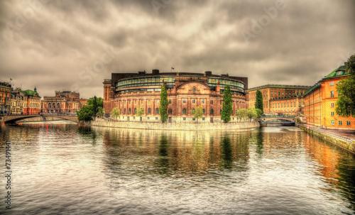 Swedish Parliament building in Stockholm - 73491441