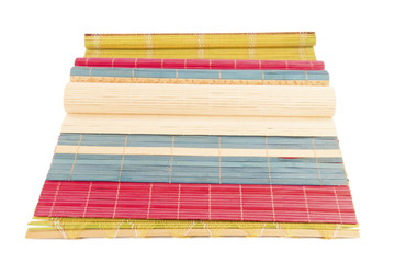 Colorful straw rugs