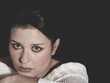vulnerable woman concept of psychological abuse, beautiful young