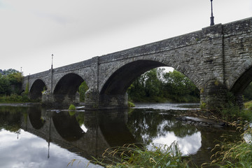 Boughrood Bridge over the River Wye.