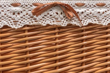 Small basket closeup photo