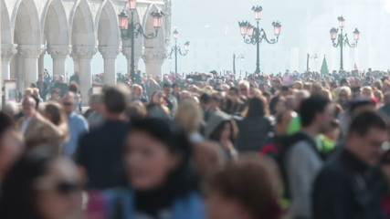 Crowd of people in Venice, timelapse