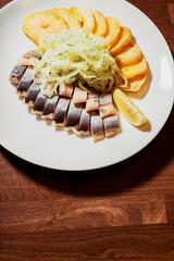herring with onion and potato