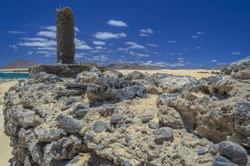 Rocky Coastline in Fuerteventura, Canary Islands