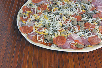Pizza With Pork Toppings