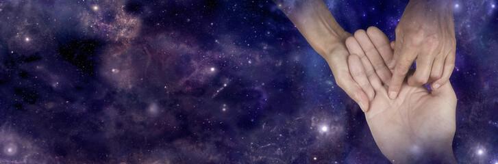 Fortune teller predicting the stars