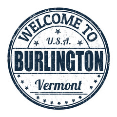 Welcome to Burlington stamp