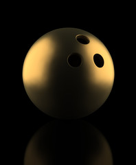 Golden Bowling Ball