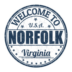 Welcome to Norfolk stamp