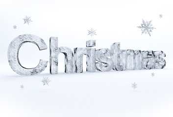 Christmas scritta col ghiaccio