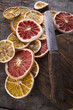 canvas print picture - Slices of dried citrus