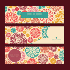 Vector abstract decorative circles horizontal banners set